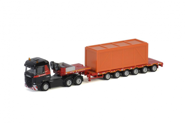 MAMMOET TOYS SCANIA STREAMLINE 6X4 SEMILOW LOADER 6 AXLE + WOODEN BOX