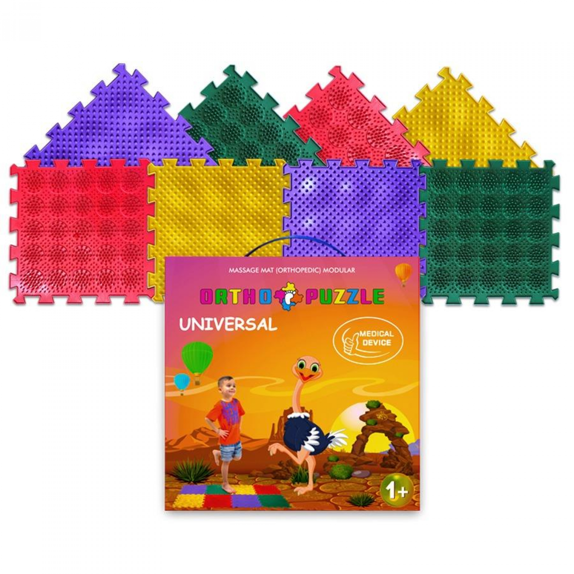"Puzzlematten ""Ortho-Puzzle"" mix Hedgehogs, 8-tlg."