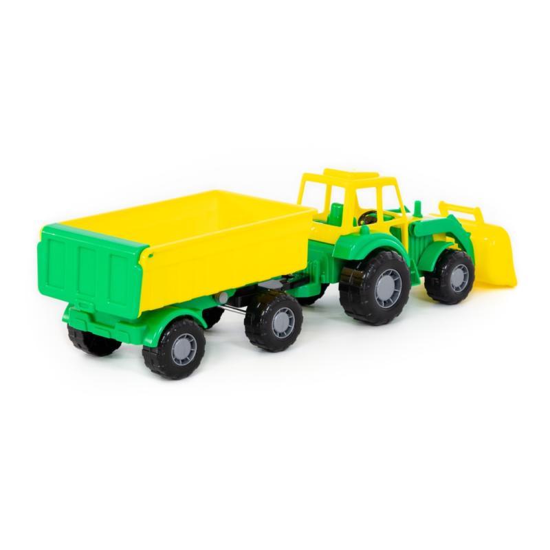 polesiede  little farmer traktor mit schaufel und anhänger